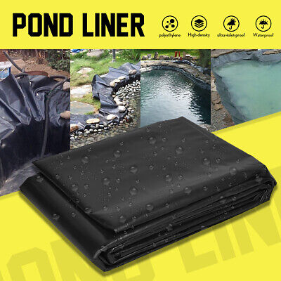 Pond Liner Pool Fish Durable HDPE Guarantee Suit All Weather Garden 9 Sizes