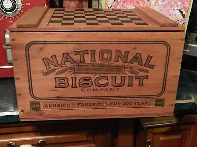 National Biscuit Company (NABISCO) 200th Anniversary Engraved WOOD CRATE BOX Ltd