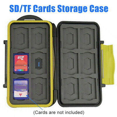 AU Waterproof ABS Case 12 Slots Micro SD/TF Cards Holder Portable Storage Box