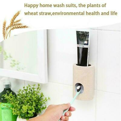 Super Device Automatic Toothpaste Squeezer Dispenser Toothbrush Holder Extrusion