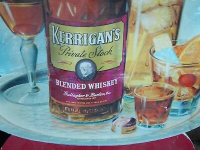 Kerrigan's Blended Whiskey (Gallagher & Burton) BAR_PUB_TAVERN Plaque Litho SIGN