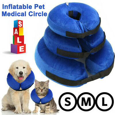 Inflatable Pet E Collar Dog Soft Cat Puppy Head Protection Medical Surgery Cone