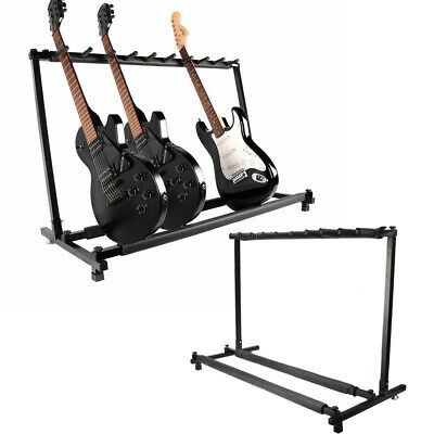 9 Holder Guitar Stand Foldable Display Rack Stand for Bass Acoustic Guitar