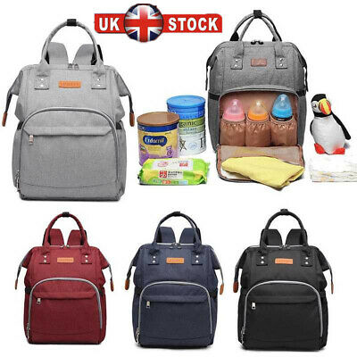 Women Travel Diaper Nappy Backpack Set Multi-Function Tote Baby Mummy Bag Set