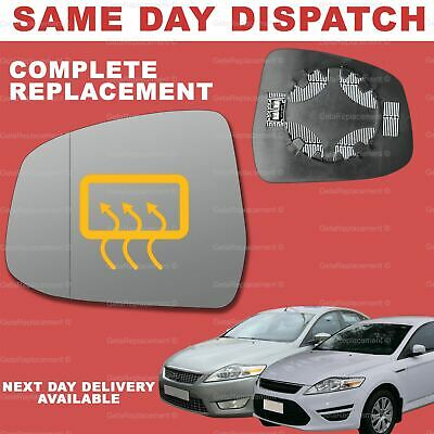 Ford Mondeo 2007-2014 left side heated wing mirror glass /& plate 134LSHP
