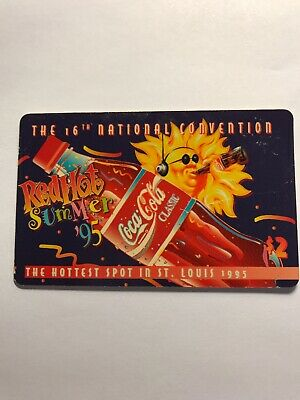 """1995 Coca Cola """"Red Hot Summer"""" Phone Card"""