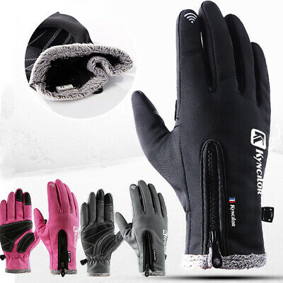 Outdoor Sport Ski Waterproof Windproof Winter Warm Mittens Touch Screen Gloves