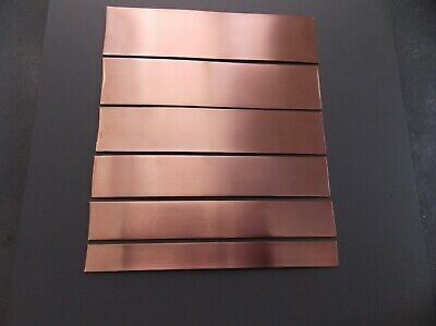 Copper Strip -Tape - Bar  C101 High Grade 1.2mm Thick (Various Sizes)
