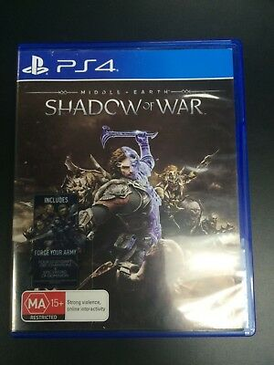 Middle Earth Shadow of War   PlayStation 4 PS4   Very Good Condition
