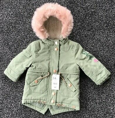 Mothercare Baby Girls Warm Lined Winter Coat Age  3-6 Months New With Tags