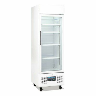 Polar Refiregerator Upright Display Cabinet 218Ltr White Body with Glass Door