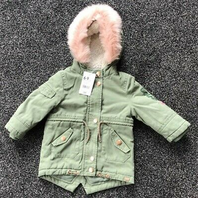 Mothercare Baby Girls Warm Lined Winter Coat Age  6-9 Months New With Tags