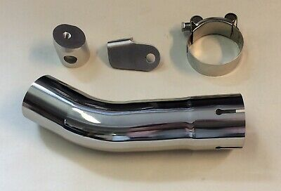 Stainless Steel Exhaust Link Pipe Suzuki GSX-S 1000 F 15-18 For 51mm Can