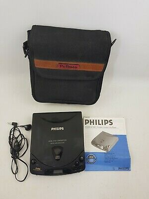 PHILIPS PORTABLE CD PLAYER AZ 6830 Tested Working With Manual & Case Discman
