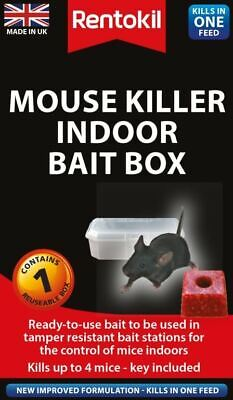 Rentokil Mouse Killer Indoor Bait Box Single  Bait Stations PSM81