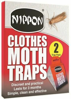 Nippon Clothes Moth Traps Pack Of 2  Glue Traps 5NCMT1