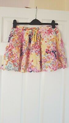 M&S indigo girls multicoloured lined summer skirt Age 10 excellent condition