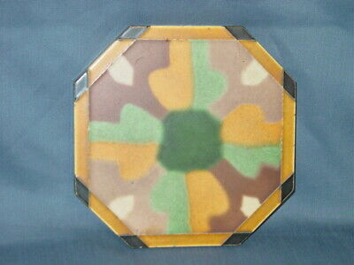 Arts Deco Matawan Tile Co. Ceramic Tile Trivet Vintage