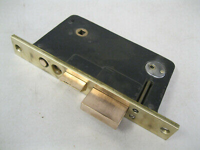 NORWALK EARLY 1900's 100 YEARS OLD ANTIQUE SOLID BRASS MORTISE ENTRY DOOR LOCK