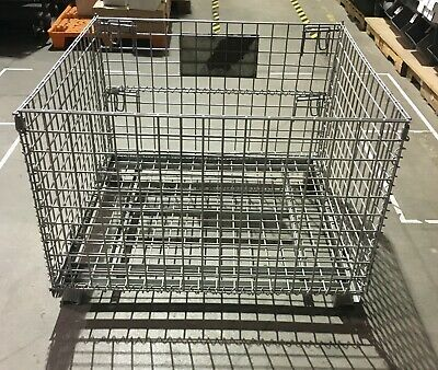"""Heavy Duty Collapsible and Stack-able Folding Wire Container 42"""" x 41"""" x 31"""""""