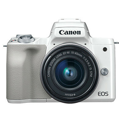 Canon EOS M50 Mirrorless Digital Camera with 15-45mm EF-M IS STM Lens White