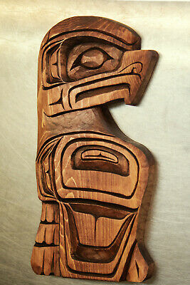 Native Carved Eagle Plaque By Gino Seward Vancouver Island