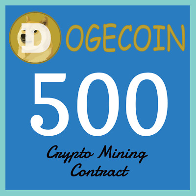 Dogecoin 500 DOGE | MINING CONTRACT | Crypto Currency | Top 31 Coinmarketcap
