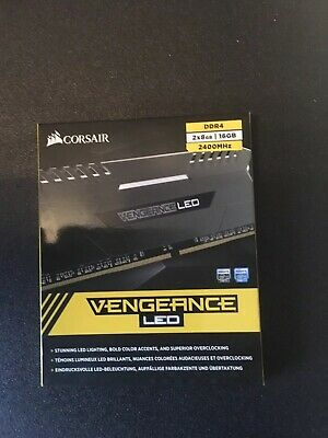 Corsair Vengeance LED 16GB (2x8GB) DDR4 DRAM 2400MHz C16 Memory Kit White LED