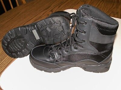 d43188c2984 INTERCEPTOR MEN'S BLACK Leather Patrol Tactical Work Boots Size 8 ...