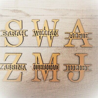 Personalised Wooden Letters Name Monogram Craft Wedding  Gift Unfinished