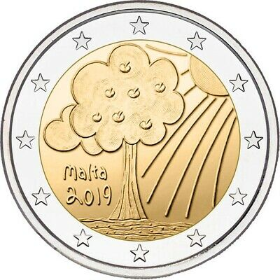 2 euro coin Malta 2019 – Nature