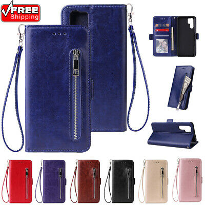 For Huawei Lot Business Bimple Flip Card Shokcproof Wallet PU Leather Phone Case