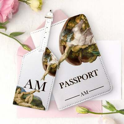 Michelangelo Passport Cover Creation of Adam Luggage Tag Personalized Travel Set