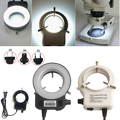 Adjustable Bright Ring LED Light illuminator Lamp For Stereo Zoom Microscope RK