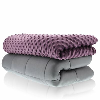 Sonno Zona Weighted Blanket Adult Size Blanket with Cover Included  60x80 20lbs