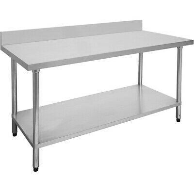Modular Systems Economy Stainless Steel Table with Splashback 600mmD