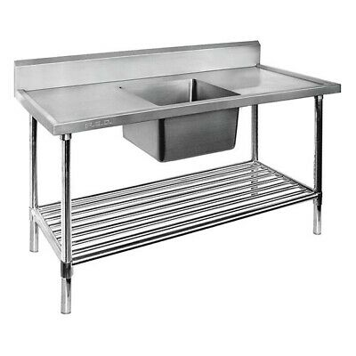 Modular Systems Economy Stainless Steel Single Sink Bench 700mmD