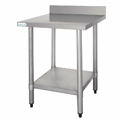 Vogue Stainless Steel Prep Table with Splashback