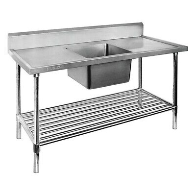 Modular Systems Economy Stainless Steel Single Sink Bench 600mmD