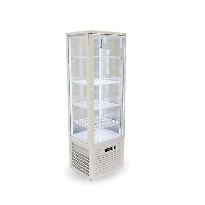 Thermaster Four sided 220L Display Fridge White