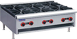 GasMax Cook Top NG 6 Burners 900mm Wide with Flame Failure