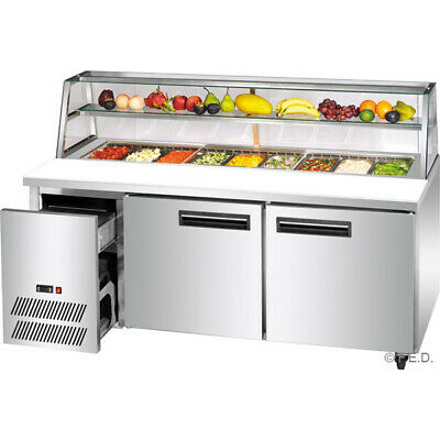 Thermaster 870L Two Large Door Deluxe Sandwich Bar 9x1/3 pans