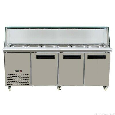 Cold Salad & Noodle Bar 6x1/1 GN Pans Thermaster|
