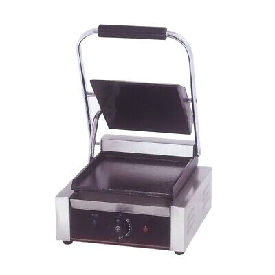 Benchstar Electric Contact Grill Single Top Grooved And Flat Bottom