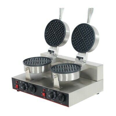 Benchstar Double Round Plate Waffle Maker Power 2 x 1.1kW