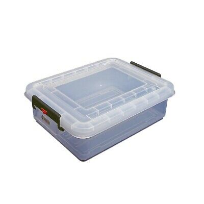 Araven Food Storage Box & Lid with Colour Clips - 40Ltr 530x396x226mm