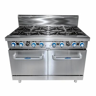 CookRite 8 Burner with Oven NG