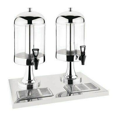 Deluxe Juice Dispenser Double Head St/St Olympia|