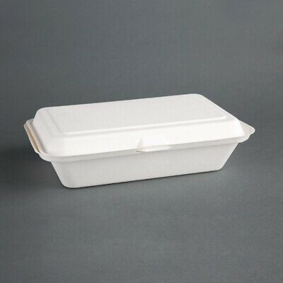 Fiesta Green Compostable Hinged Container - 64x161x248mm (Pack 250)