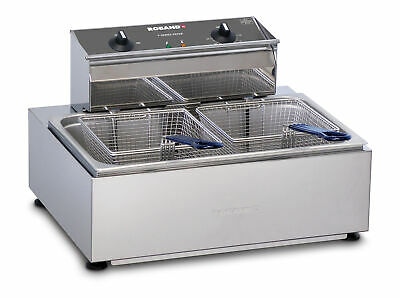 Roband Single Pan/Double basket fryer 11lt